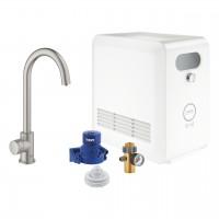 Grohe Blue Professional Mono sistema per acqua filtrata, refrigerata e frizzante, bocca C, supersteel - 31302DC2