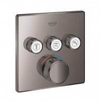 miscelatore termostatico a 3 vie Grohe Grohtherm SmartControl, finitura grafite lucido - 29126A00
