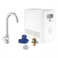 Grohe Blue Professional Mono sistema per acqua filtrata, refrigerata e frizzante, bocca C, cromato - 31302002