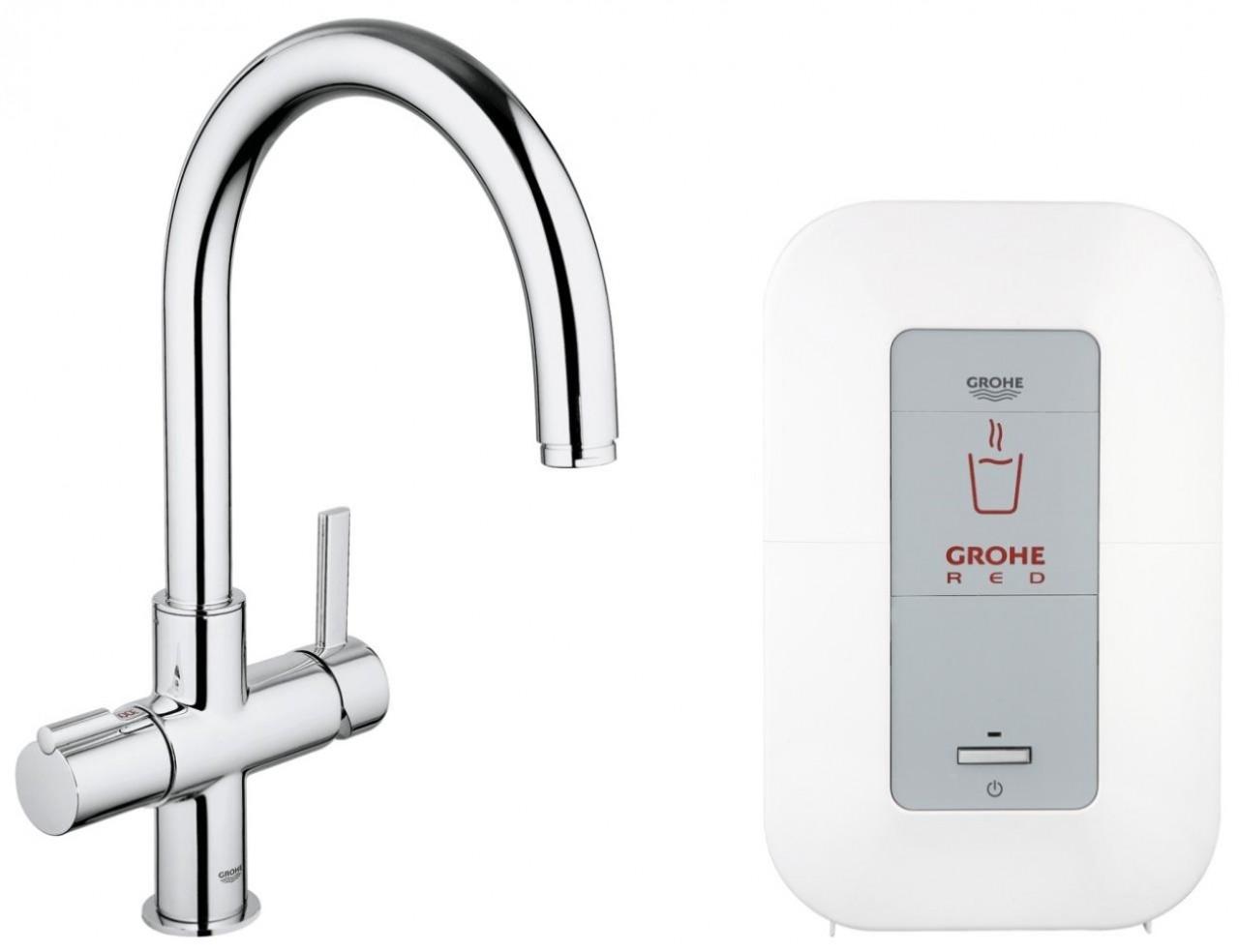 Miscelatore cucina grohe red duo con bollitore 30083000 rubinetti acqua bollente rubinetti - Miscelatore cucina perde acqua ...