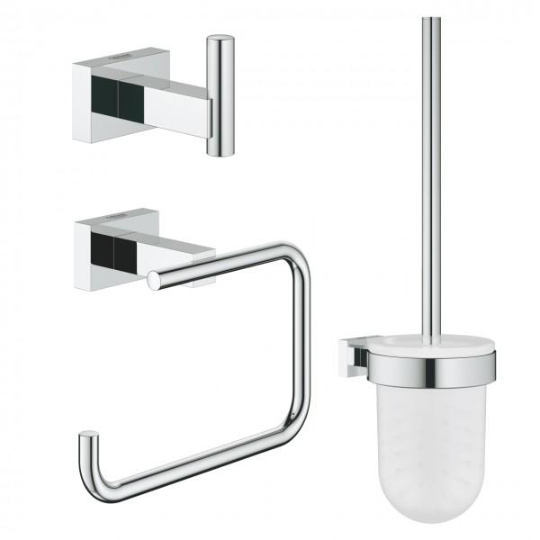 Set accessori bagno 3-in-1 cromo Grohe Essentials Cube - 40757001