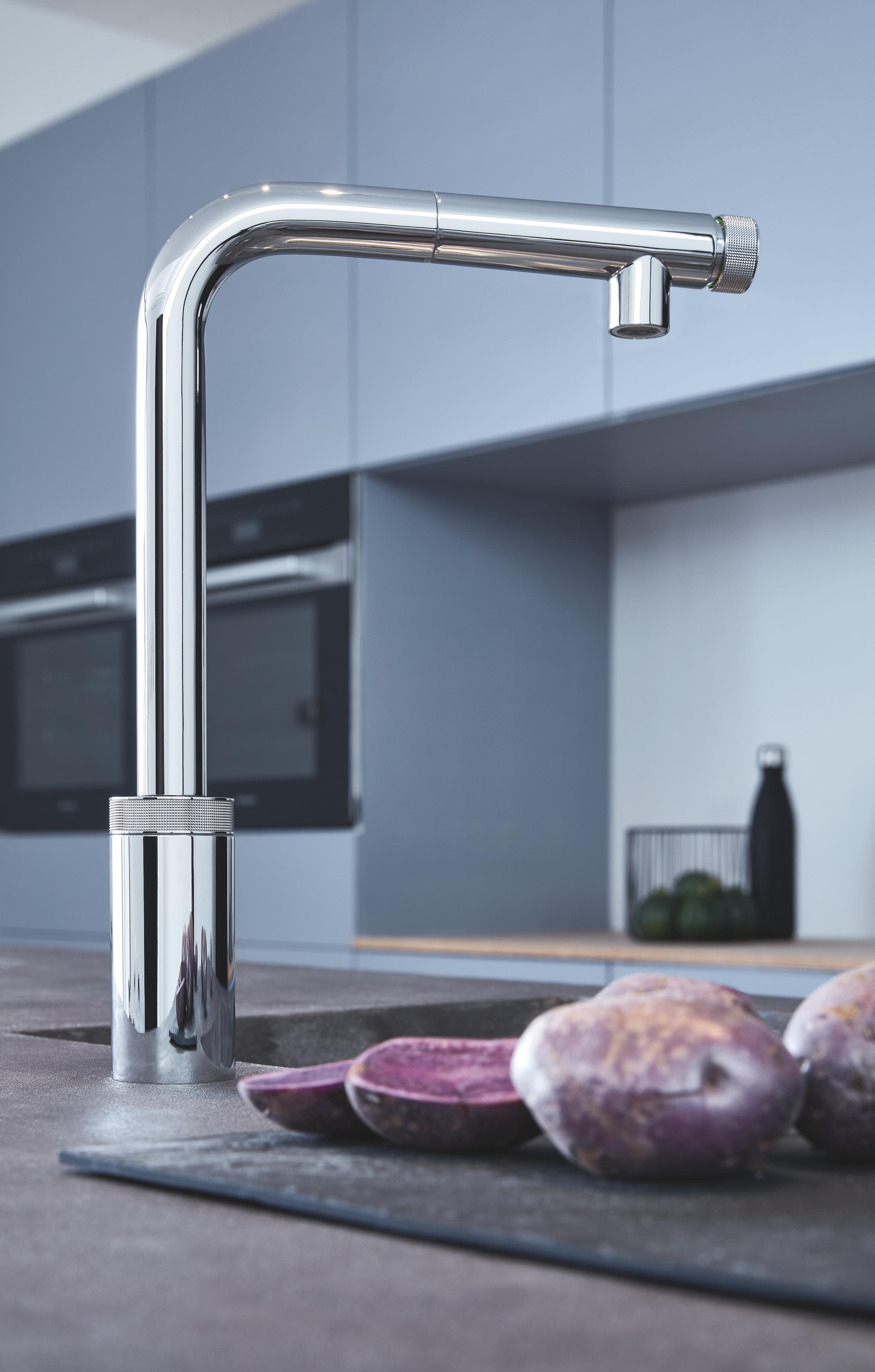 Grohe Minta SmartControl miscelatore per lavello cucina con doccino estraibile, cromato 31613000