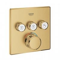 miscelatore termostatico a 3 vie Grohe Grohtherm SmartControl, finitura oro spazzolato - 29126GN0