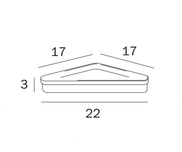 Inda ripiano angolare in acrilico trasparente - R04310