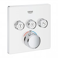 miscelatore termostatico Grohe Grohtherm SmartControl per doccia a 3 vie, bianco-cromo - 29157LS0