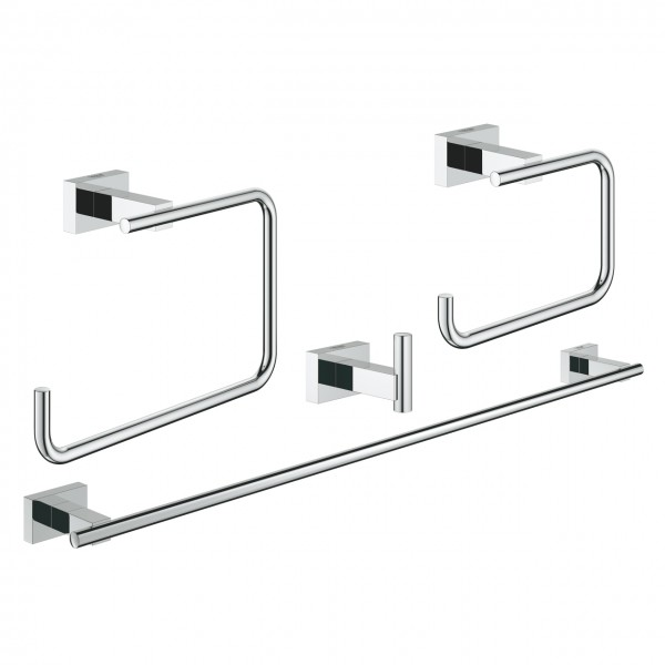 Set accessori bagno 4-in-1 cromo Grohe Essentials Cube - 40778001