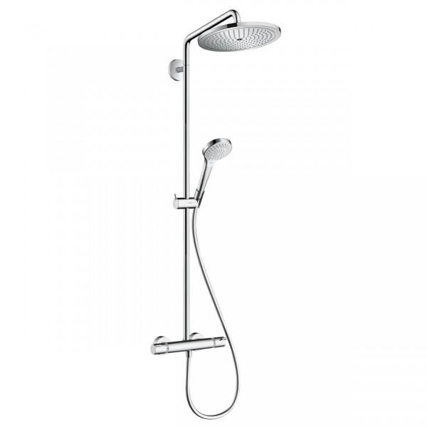 sistema doccia Hansgrohe Croma Select S Showerpipe 280 1jet EcoSmart con termostatico - 26794000