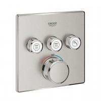 miscelatore termostatico a 3 vie Grohe Grohtherm SmartControl, finitura supersteel - 29126DC0