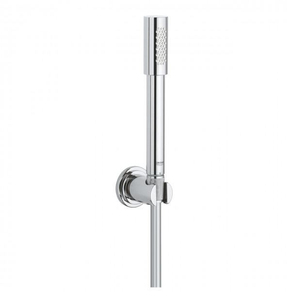 set doccia Grohe Sena con doccetta Stick, flessibile e supporto, cromo lucido - 28348000