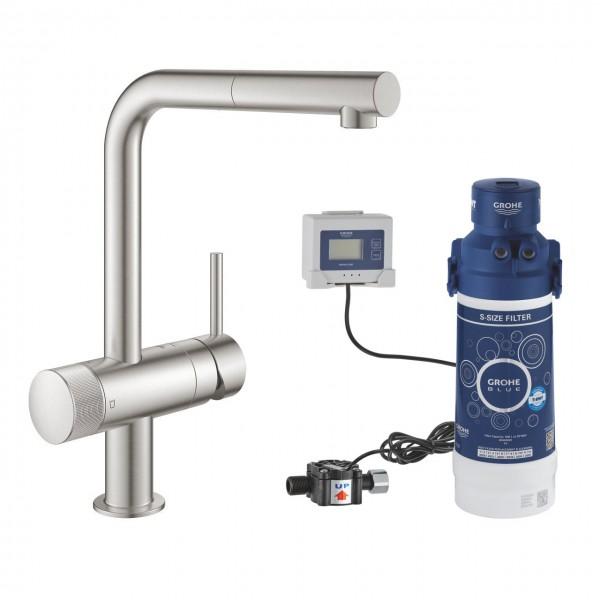 miscelatore a tre vie Grohe Blue Pure 31721DC0 con sistema filtrante 40438001 (120836)