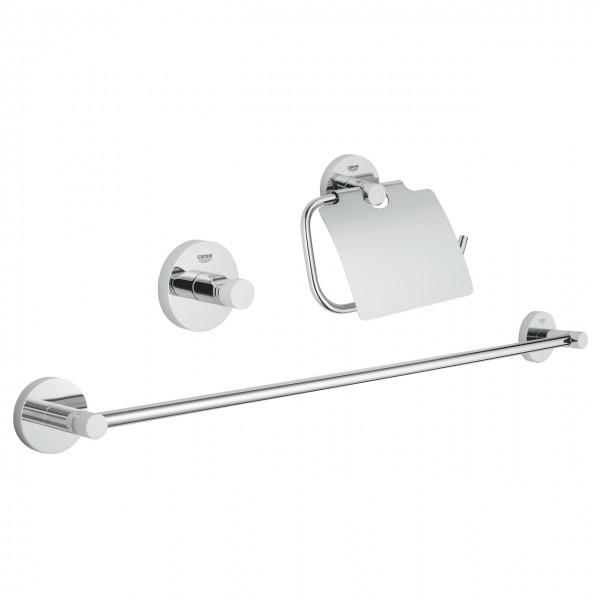 Set accessori bagno 3-in-1 cromo Grohe Essentials - 40775001