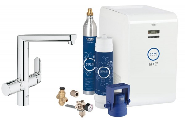 miscelatore Grohe Blue K7 Professional F&G con sistema filtrante - 31346001