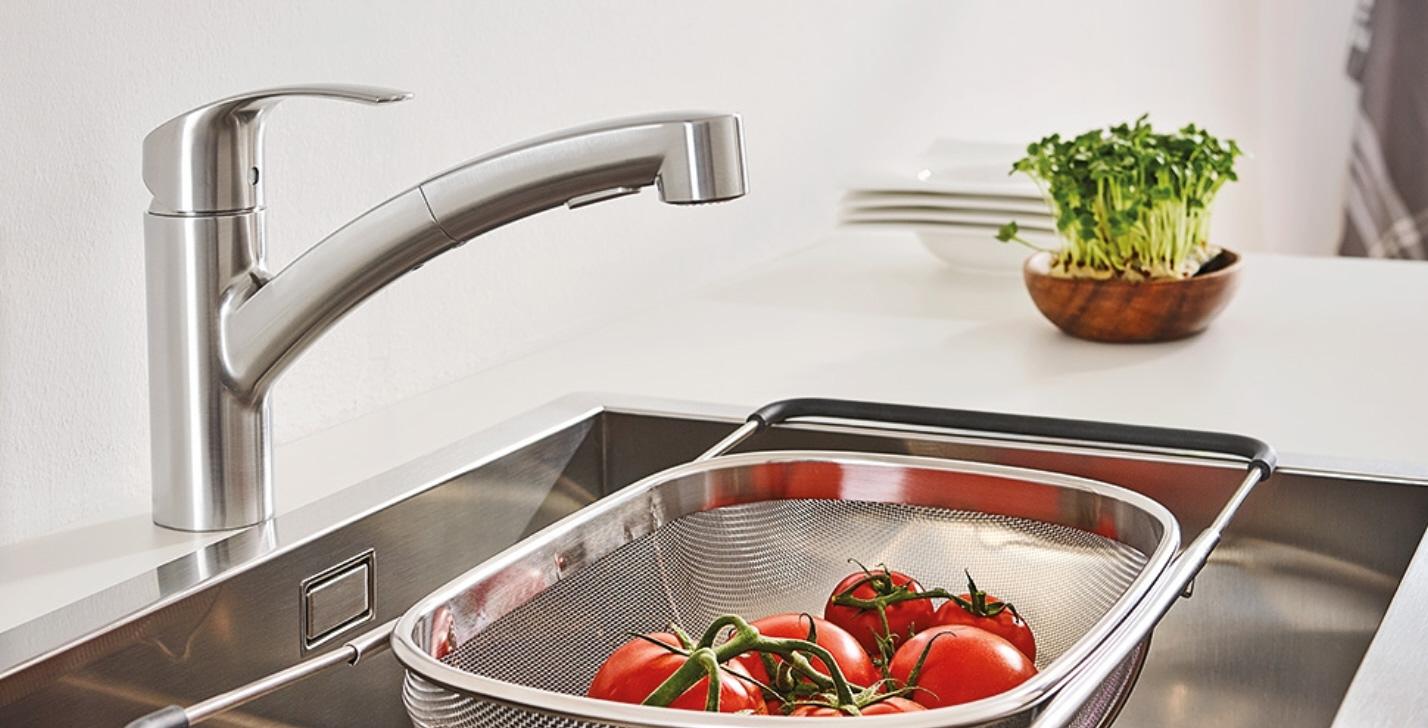 miscelatore monocomando per lavello Grohe Eurosmart con doccetta estraibile 30305DC0