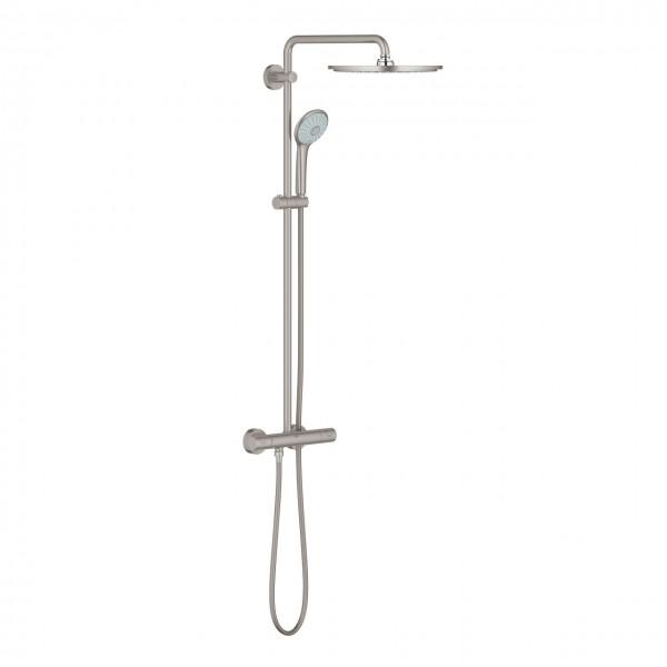 sistema doccia Grohe Euphoria XXL System 310, installazione a parete, finitura supersteel - 26075DC0