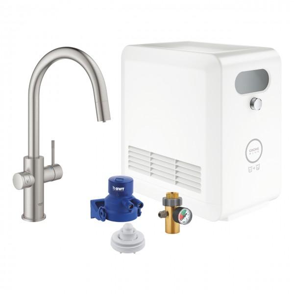 Grohe Blue Professional 31325DC2 completo con frigogasatore, acqua liscia e frizzante