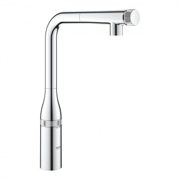 Grohe Essence SmartControl miscelatore per lavello cucina con doccino  estraibile, cromato - 31615000