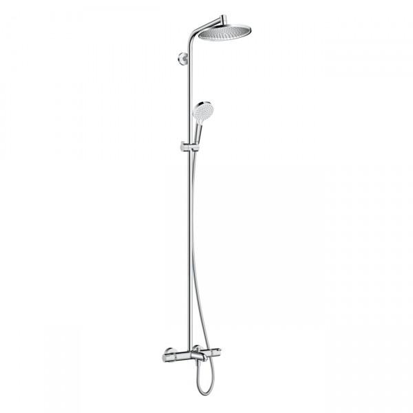sistema doccia Hansgrohe Crometta S Showerpipe 240 1jet con miscelatore termostatico per vasca - 27320000