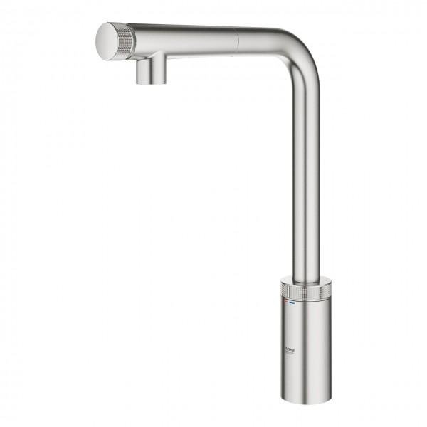 Grohe Minta SmartControl miscelatore per lavello cucina con doccino  estraibile, supersteel - 31613DC0